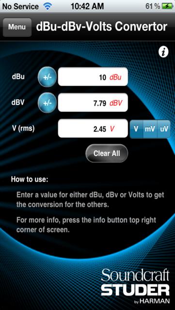 Audio Calc Toolkit screenshot 2
