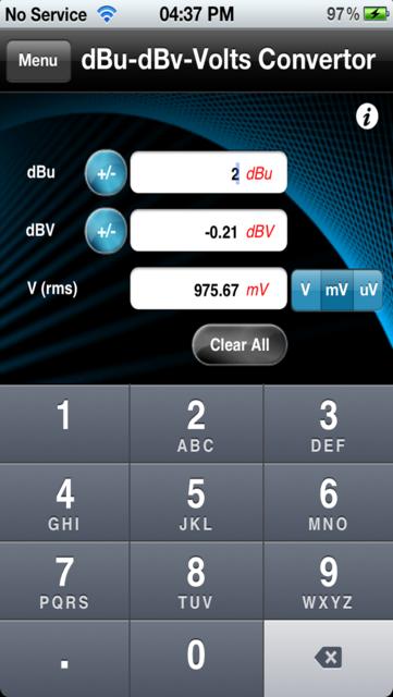 Audio Calc Toolkit screenshot 3