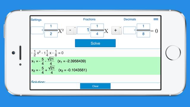 Quadratic Equation Calculator with Steps screenshot 2