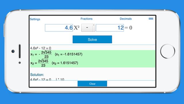 Quadratic Equation Calculator with Steps screenshot 3