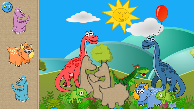 My baby first dino: dinosaur puzzle game for kids screenshot 7