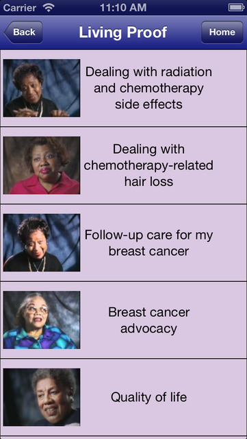 Living Proof: Breast Cancer Survivor Stories screenshot 2