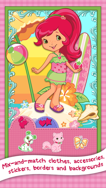 Strawberry Shortcake Card Maker Dress Up - Fashion Makeover Game for Kids screenshot 6
