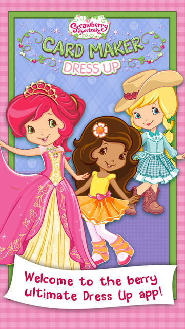 Strawberry Shortcake Card Maker Dress Up - Fashion Makeover Game for Kids screenshot 9