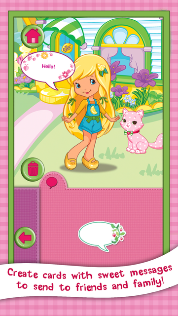 Strawberry Shortcake Card Maker Dress Up - Fashion Makeover Game for Kids screenshot 11
