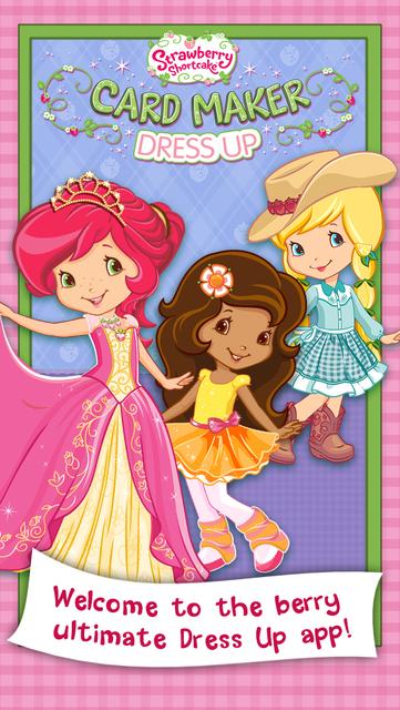 Strawberry Shortcake Card Maker Dress Up - Fashion Makeover Game for Kids screenshot 13