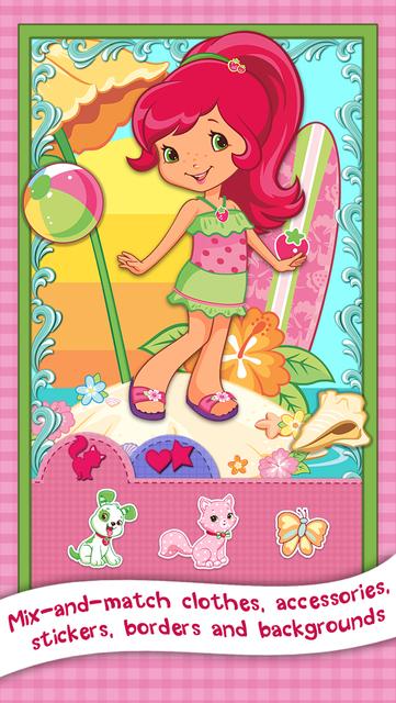 Strawberry Shortcake Card Maker Dress Up - Fashion Makeover Game for Kids screenshot 14