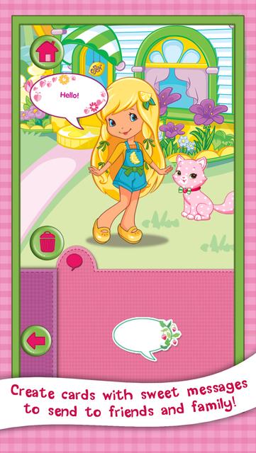 Strawberry Shortcake Card Maker Dress Up - Fashion Makeover Game for Kids screenshot 27