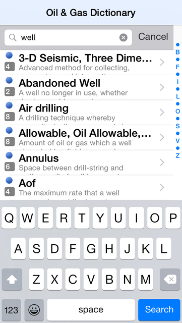 5,000 Oil and Gas Terms and Acronyms screenshot 3
