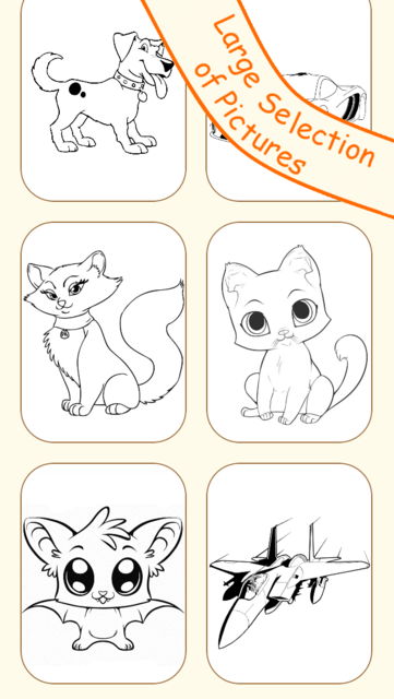 Draw & Paint - Sketching & Coloring Pictures - Cute Caricature Art Ideas for Kids screenshot 2