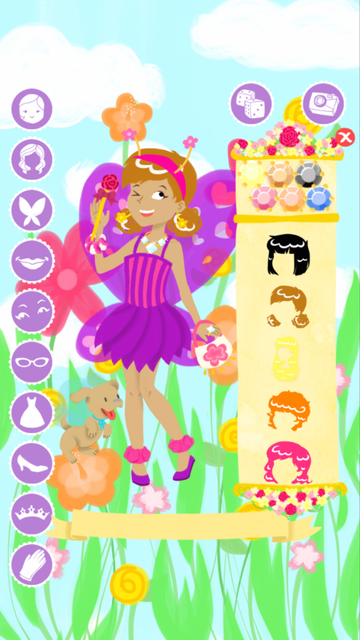 Fairy Fashion Show Dress Up Gold screenshot 1