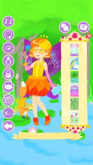 Fairy Fashion Show Dress Up Gold screenshot 2