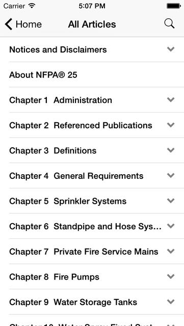 NFPA 25 2011 Edition screenshot 2