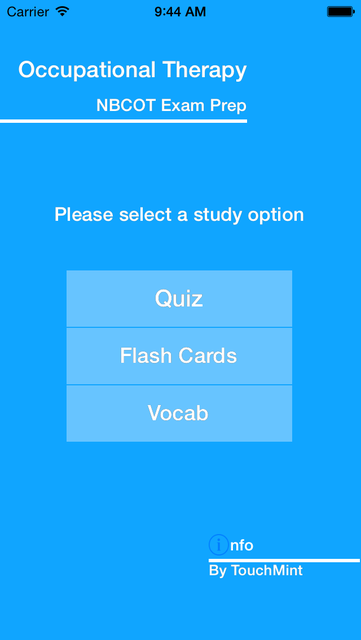Occupational Therapy - NBCOT Study Quiz Exam 2016 screenshot 1