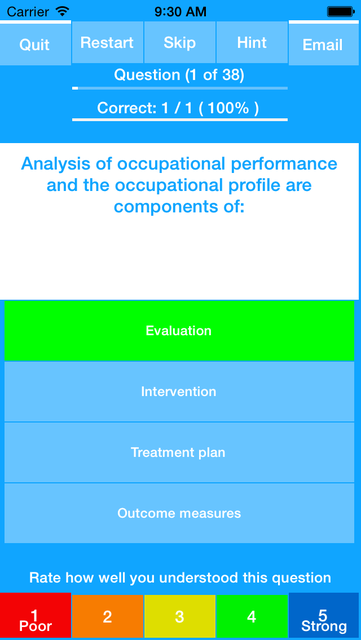 Occupational Therapy - NBCOT Study Quiz Exam 2016 screenshot 2