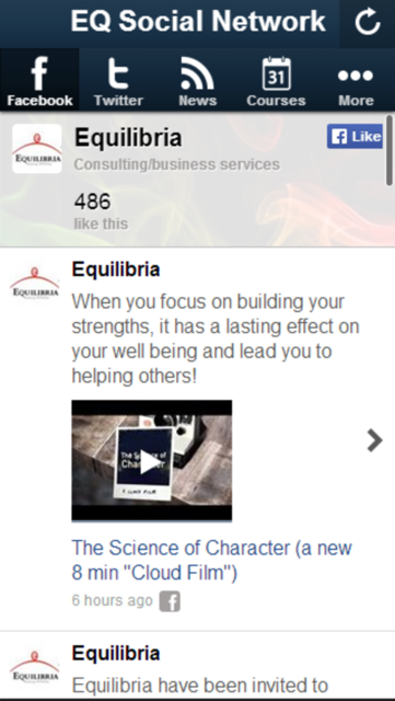 EQ SocialNet screenshot 2