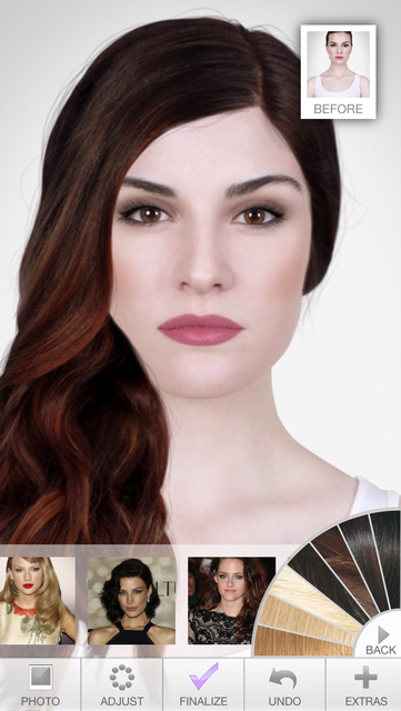Hairstyles - Celebrity Hair Try-On screenshot 3