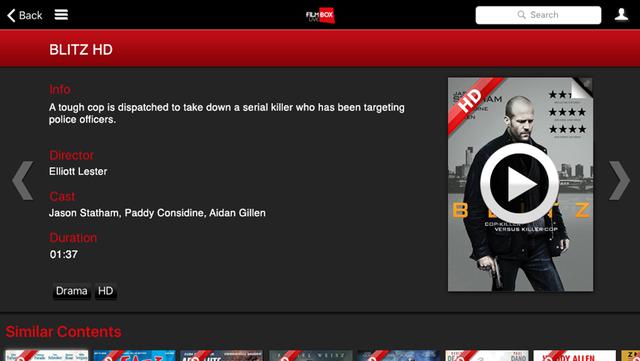 Filmbox Live screenshot 3