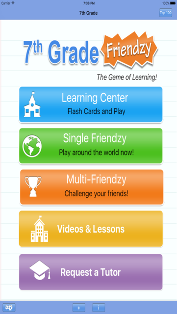 7th Grade Friendzy - Reading, Math, Science screenshot 1