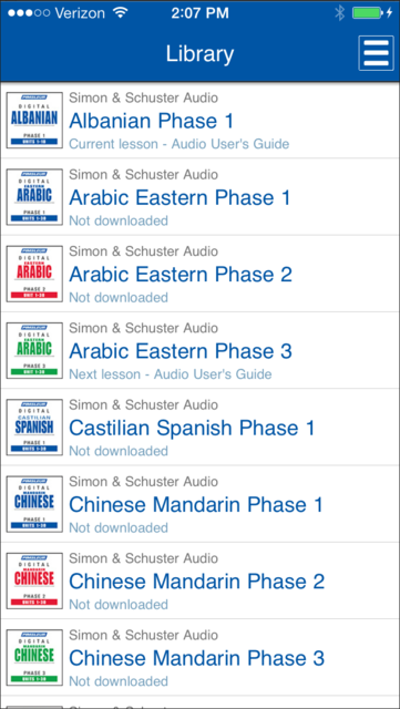 Pimsleur Course Manager screenshot 2