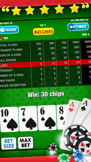 Video Poker Free Game: King of the Cards! for iPad and iPhone Casino Apps screenshot 8