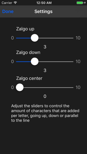 Zalgo text screenshot 3