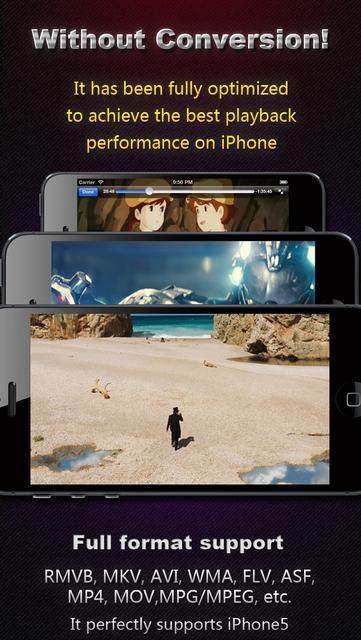 AVI, FLV, WMA, MPEG, RMVB, MP4 Player screenshot 1