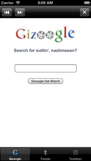 Gizoogle App screenshot 1