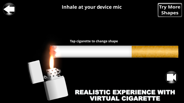 Phone Smoker - Stop cigarette and cigar smoking simulator screenshot 1