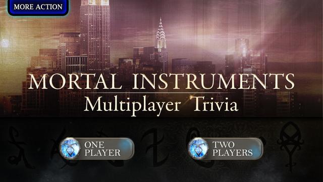 Mortal Instruments Multiplayer Trivia screenshot 1