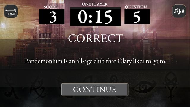 Mortal Instruments Multiplayer Trivia screenshot 3