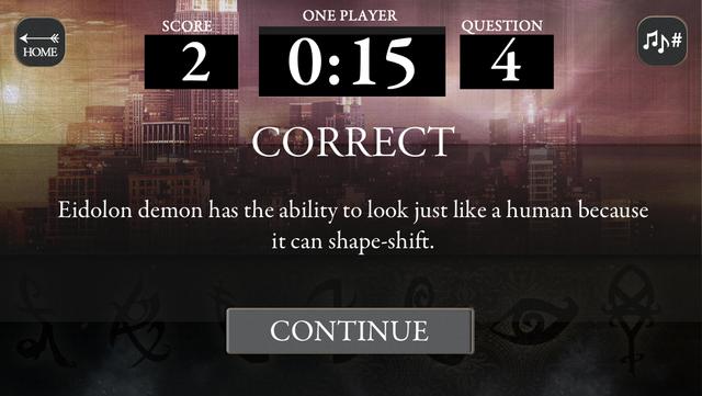 Mortal Instruments Multiplayer Trivia screenshot 5