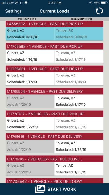 1Dispatch Carrier App screenshot 2