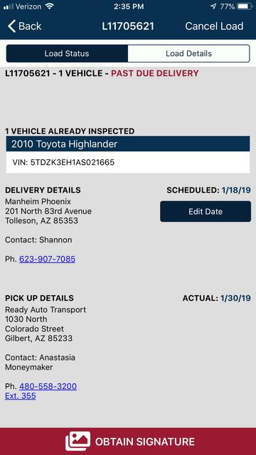 1Dispatch Carrier App screenshot 3