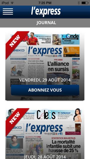 L'Express (La Sentinelle LTD) screenshot 4