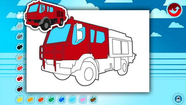Fire Trucks Activities for Kids: Puzzles, Drawing and other Games screenshot 2