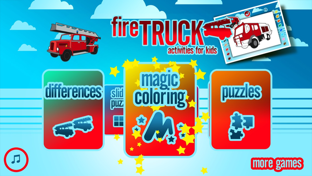 Fire Trucks Activities for Kids: Puzzles, Drawing and other Games screenshot 5