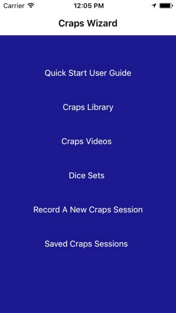 Craps Wizard screenshot 1