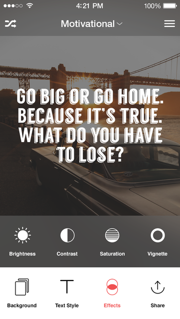 Kwote: A Quote Maker for Inspirational and Motivational Quotes, Sayings and Text on Photo Background Editor screenshot 3