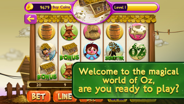 Slots Wizard of Oz screenshot 1