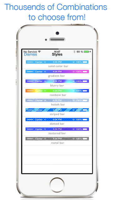 Colors Unleashed - Status Bar Designer screenshot 3