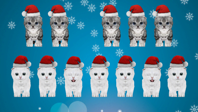 Animated 3D Singing Kitten Piano screenshot 1