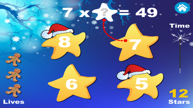Adventure Basic School Math · Math Drills Challenge, Math Bingo, Catch Starfall and More - Learning Games (Numbers, Addition, Subtraction, Multiplication and Division) for Kids: Preschool, Kindergarten, Grade 1, 2, 3 and 4 by Abby Monkey® screenshot 3