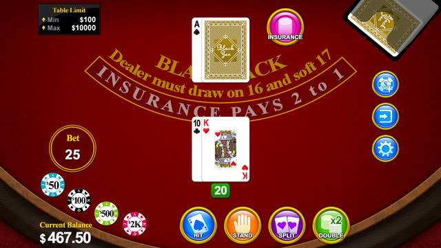 Blackjack 21 for 2014 screenshot 3