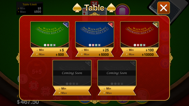 Blackjack 21 for 2014 screenshot 5