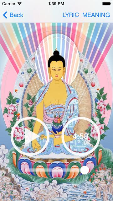 Buddha Mantras For Meditation PRO screenshot 2