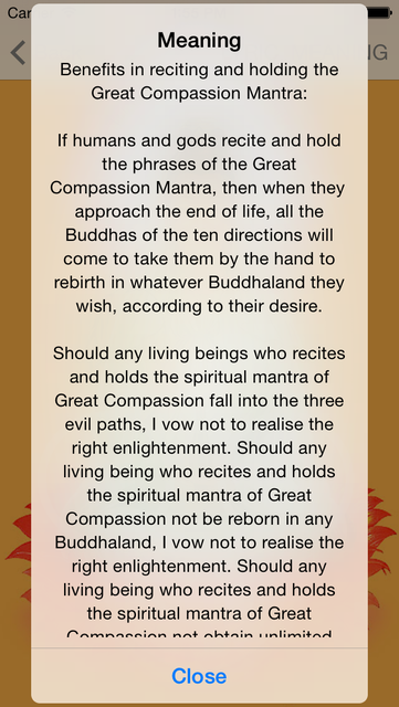 Buddha Mantras For Meditation PRO screenshot 4
