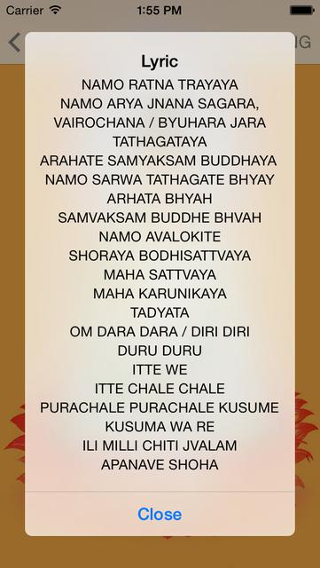 Buddha Mantras For Meditation PRO screenshot 5