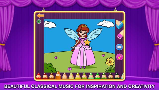 My Little Princess Ballerina Color Salon: Ballet Dancers Princesses Fairy Coloring Book for Kids and Girls screenshot 2