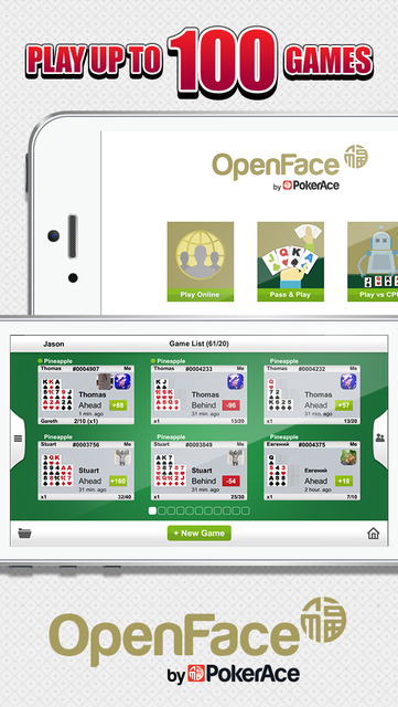Open Face by PokerAce screenshot 2